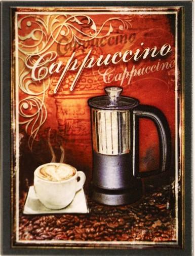 """Kühlschrank Metall Magnet """" Cappuchino Kaffee"""""""