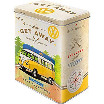 "Vorratsdose L "" VW Bulli - Let's get away"" Reklame Retro online kaufen"