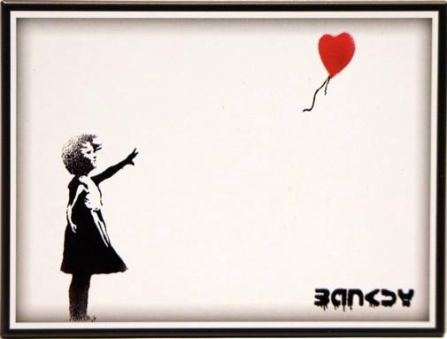 "Kühlschrank Metall Magnet "" Mädchen mit Luftballon """