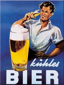 """Kühlschrank Magnet 6 x 8 cm """"ein kühles Bier """""""