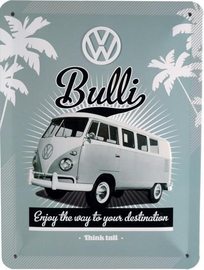"Blechschild geprägt 15 x 20 cm ""VW Bulli Bus"""