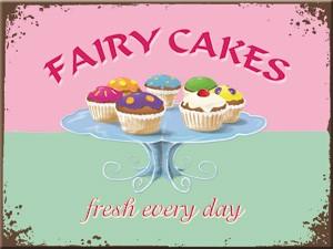 """Kühlschrank Magnet 6 x 8 cm """"Fairy Cakes"""""""