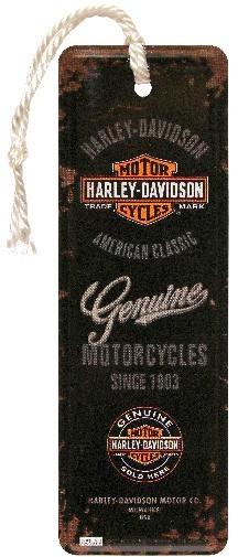 """Lesezeichen """" Harley-Davidson Genuine Logo """" mit Kordel"""