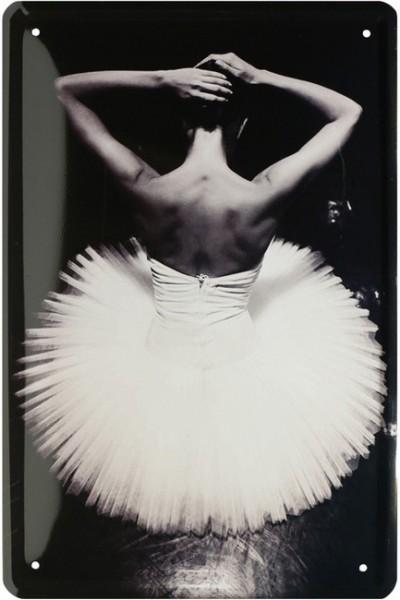 """Blechschild """" Ballerina Ballett Tänzerin """""""