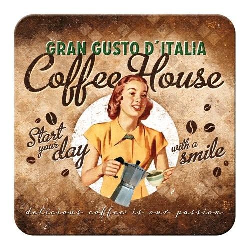 """Untersetzer einzeln """" Coffee und Chocolate House Lady """""""