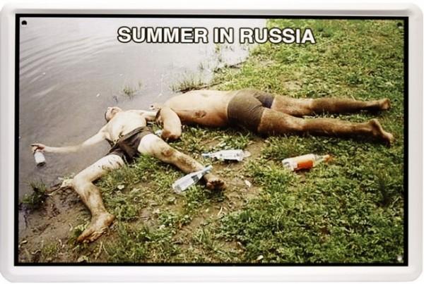 """Blechschild """" Russian Summer """""""