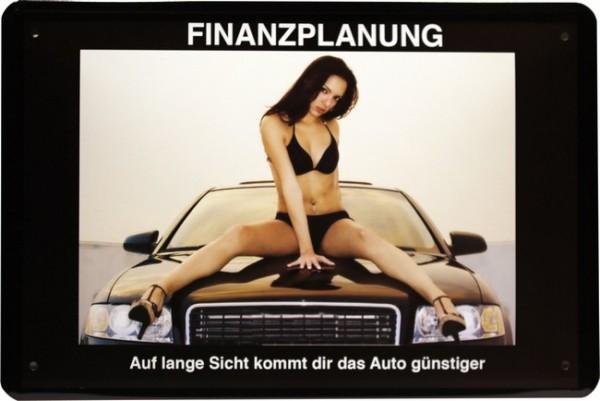 """Blechschild """" Finanzplanung """""""