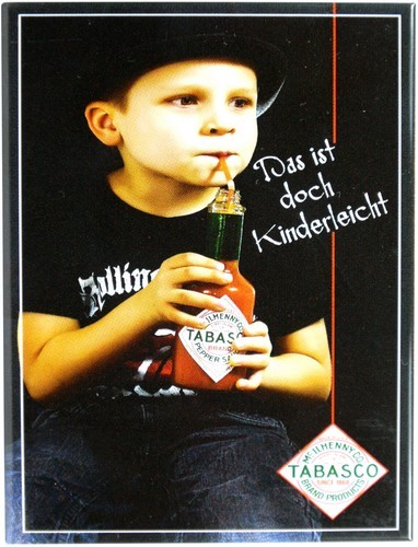 "Kühlschrank Metall Magnet ""Tobasco"""