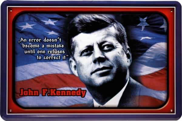 """Blechschild """" John F. Kennedy """""""