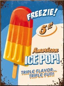 "Kühlschrank Magnet 6 x 8 cm ""Freezie American Ice Pop Eis"""