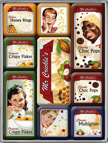 "Kühlschrank Magnet-Set 9-tlg ""Mr Crickle´s Flakes Pops"""