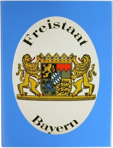 "Kühlschrank Metall Magnet "" Freistaat Bayern """
