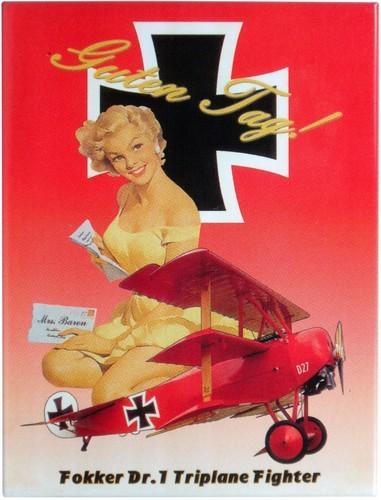 "Kühlschrank Metall Magnet "" PinUp Flugzeug """