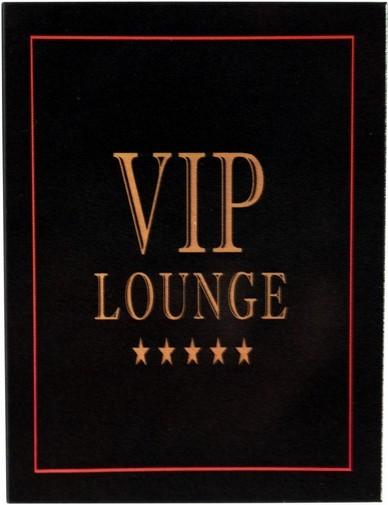 "Kühlschrank Metall Magnet "" Vip Lounge """