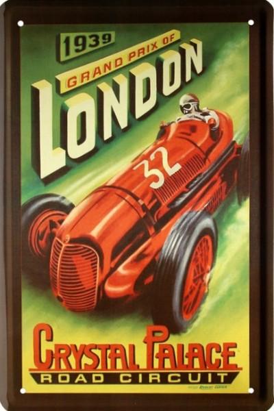 "Blechschild "" 1939 Grand Prix of London """