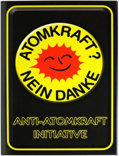 "Kühlschrank Metall Magnet ""Atomkraft - nein danke"""