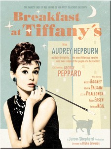 "Kühlschrank Magnet 6 x 8cm ""Audrey Hepburn Breakfast at Tiffanys """