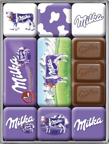 """Kühlschrank Magnet-Set 9-tlg """"Milka Kuh Schokolade"""""""