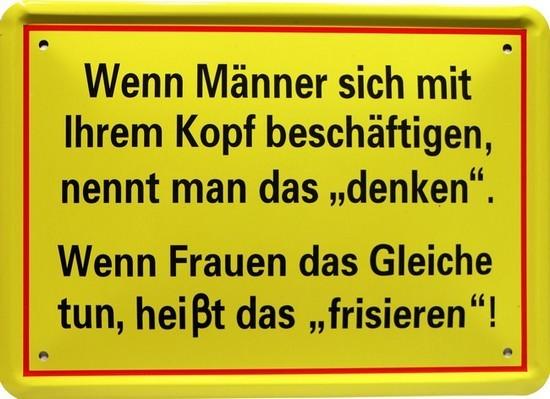 """Blechschild 15 x 21 cm """" Wenn Männer sich mit..."""""""
