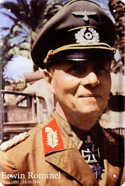 "Blechschild "" Erwin Rommel """