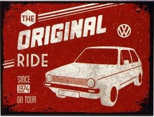 "Kühlschrank Magnet 6 x 8 cm "" Volkswagen VW Golf - The Original Ride """