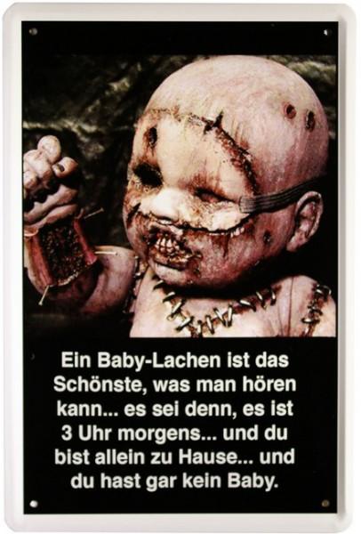 """Blechschild """"Baby Horror"""""""