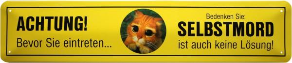 """Straßenschild """" Achtung Katze """""""