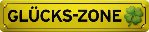 "Straßenschild "" Glücks-Zone """