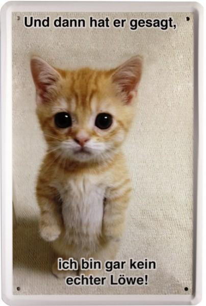 """Blechschild """" Katze """""""