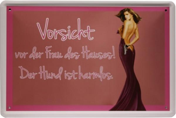 """Blechschild """"Comic Spruch Frauen Gattin"""""""