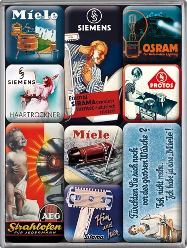 "Kühlschrank Magnet-Set 9-tlg "" Miele Traditionsmarken """