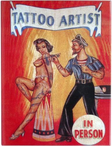 "Kühlschrank Metall Magnet "" Tattoo Artist """