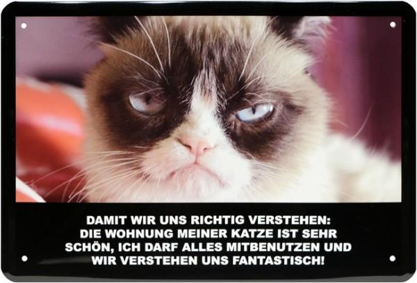 """Blechschild """" Die Wohnung meiner Katze... """""""