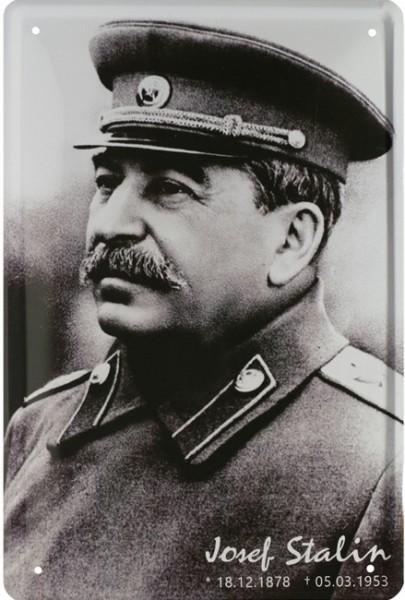 """Blechschild """"Josef Stalin """""""