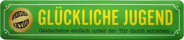 """Straßenschild """" Glückliche Jugend """""""