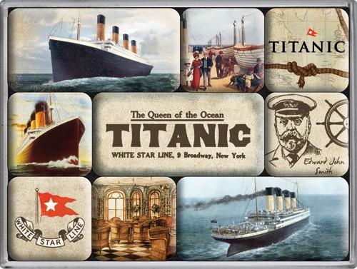 "Kühlschrank Magnet-Set 9-tlg "" Titanic White Star Line Schiff"""