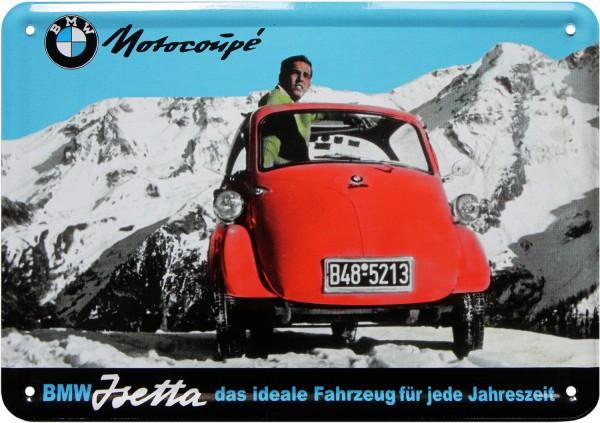"Postkarte ""BMW Isetta Motocoupé """