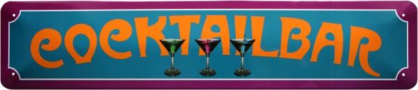 """Straßenschild """" Cocktail Bar """""""