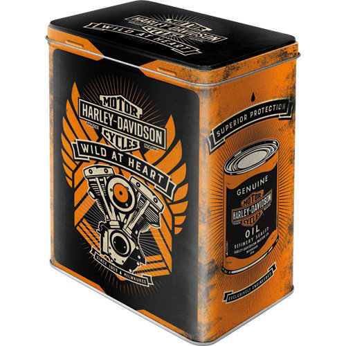 "Vorratsdose L "" Harley Davidson - Wild at heart"""