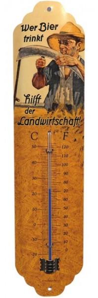 """Thermometer """"Wer Bier trinkt hilft der Landwirtschaft"""""""
