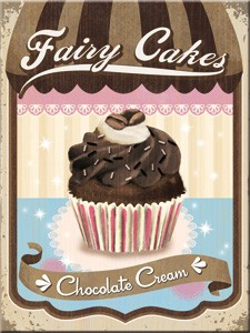 "Kühlschrank Magnet 6 x 8 cm ""Fairy Cakes Chocolate Cream """