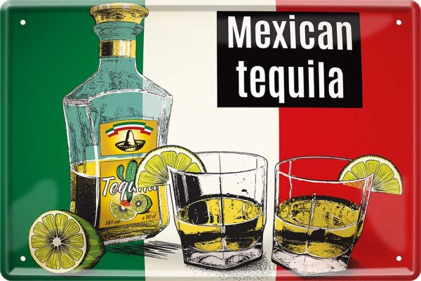 "Blechschild "" Mexican Tequila with Lemon """