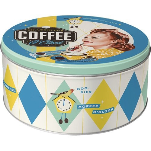 "Vorratsdose flach rund "" Coffee o'clock """