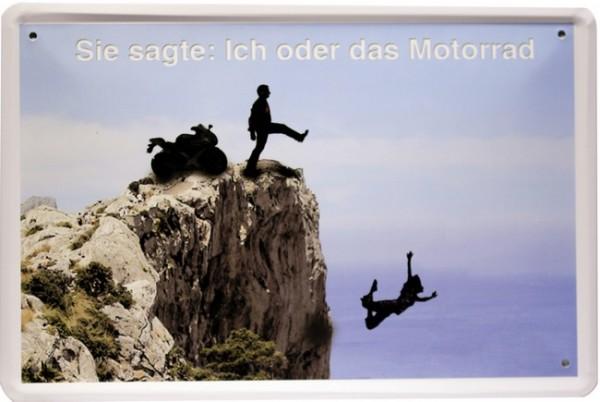 """Blechschild """"Spruch Motorrad Car Bike"""""""