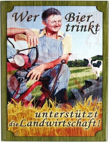 """Kühlschrank Metall Magnet """" Wer Bier trinkt... """""""