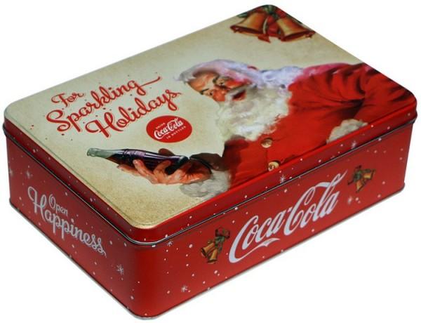 """Vorratsdose Keksdose flach """" Coca Cola Weihnachten """""""