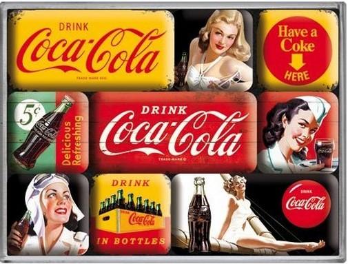 Retro Kühlschrank Coca Cola : Magnetset nostalgie magnete kühlschrank retro blechlädchen