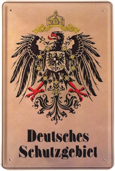 """Blechschild """"Deutsches Schutzgebiet Adler"""""""