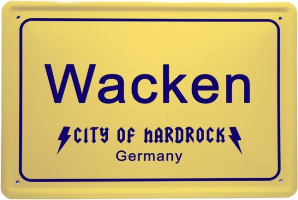 "Blechschild ""Wacken - City of Hardrock Germany """