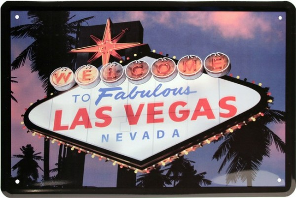 "Blechschild "" To fabulous Las Vegas """